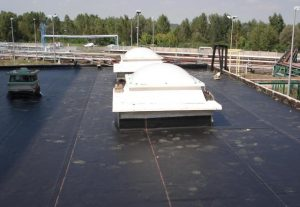 Waterproofing of the flat roofs and facades